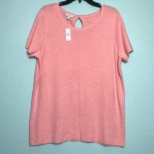 🆕 Talbots Pullover Knit Short-sleeve Sweater